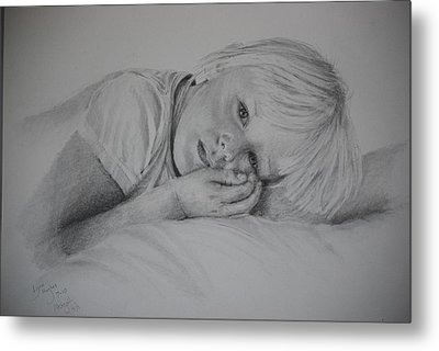 Metal Print featuring the drawing Sweet Dreams by Lynn Hughes