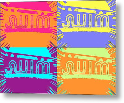 Swim Metal Print by Amber Hennessey
