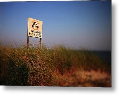 Swimming Prohibited Metal Print