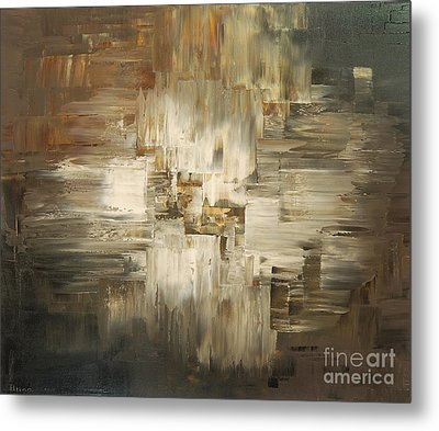 Metal Print featuring the painting Tar And Tailings by Tatiana Iliina