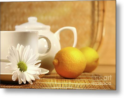 Tea And Lemon Metal Print