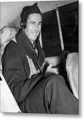 Ted Williams In Navys Flight Training Metal Print by Everett