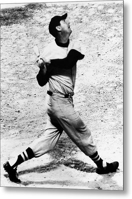 Ted Williams Of The Boston Red Sox, Aug Metal Print by Everett