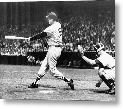 Ted Williams Of The Boston Red Sox Metal Print