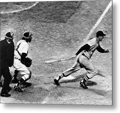 Ted Williams Of The Boston Red Sox, May Metal Print by Everett