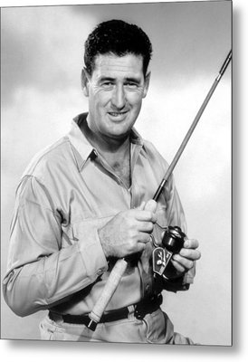 Ted Williams, With His Signature Metal Print by Everett