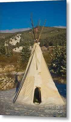 Teepee In The Snow 2 Metal Print by James BO  Insogna