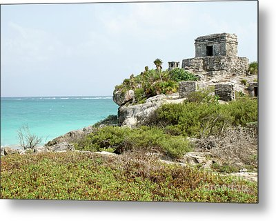 Metal Print featuring the photograph Temple Of The Wind God Tulum Mexico by John  Mitchell