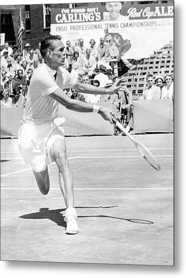Tennis Champion Jack Kramer, Playing Metal Print by Everett