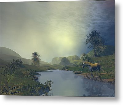 Metal Print featuring the painting Terra Pacis by Sipo Liimatainen