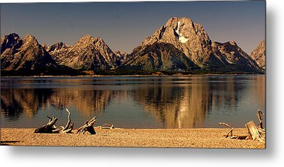 Metal Print featuring the photograph Teton Panoramic by Marty Koch