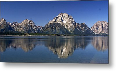 Metal Print featuring the photograph Teton Panoramic View by Marty Koch