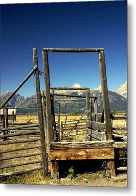 Teton Ranch Metal Print by Marty Koch