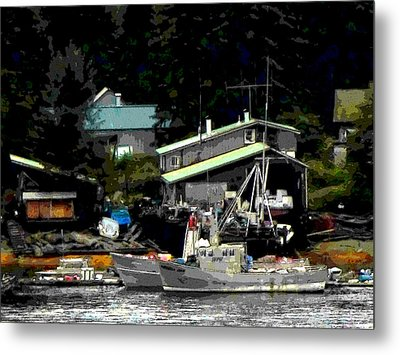 The Alaskan Fisherman's Home Metal Print by Mindy Newman