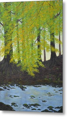 The Autumn Glen Metal Print