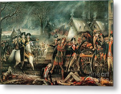 The Battle Of Trenton 1776 Metal Print by Photo Researchers
