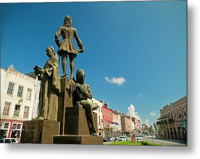 The Bienville Monument New Orleans Metal Print by Andria Patino