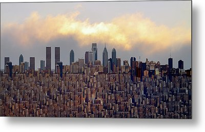 The Bigger City Metal Print by Bill Cannon