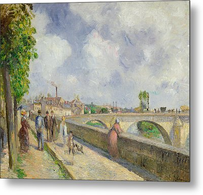 The Bridge At Pontoise Metal Print by Camille Pissarro