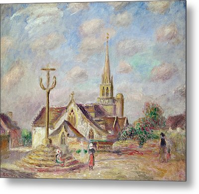 The Calvary At Pont Aven Metal Print by Pierre Auguste Renoir