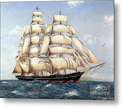 The Catty Sark In  Her Glory  Metal Print