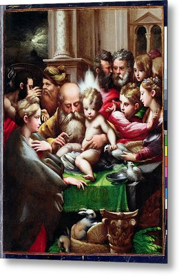 The Circumcision Metal Print by Francesco Mazzola Parmigianino