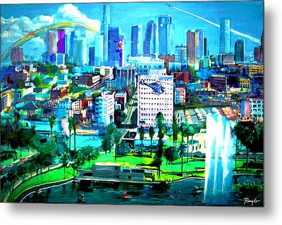 The City Of Angels Metal Print by Rom Galicia