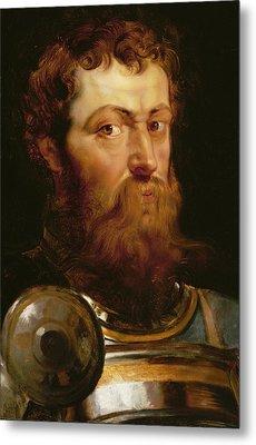 The Commander's Head  Metal Print by Peter Paul Rubens