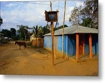The Community Television Set Metal Print by James P. Blair