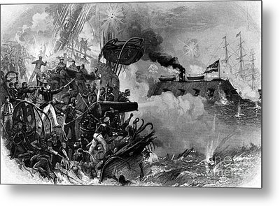 The Confederate Ironclad Merrimack Metal Print by Photo Researchers