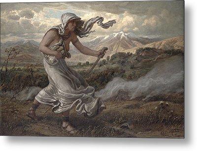 The Cumaean Sibyl Metal Print by Elihu  Vedder