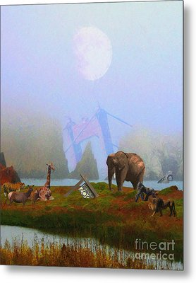 The Day After Armageddon At The San Francisco Zoo Metal Print by Wingsdomain Art and Photography