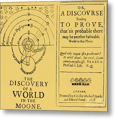 The Discovery Of A World In The Moone Metal Print by Science Source