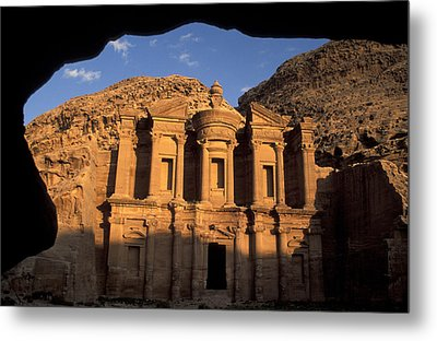 The Facade Of The Metal Print by Richard Nowitz