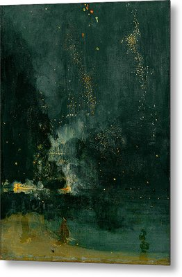 The Falling Rocket Metal Print by James Abbott Whistler