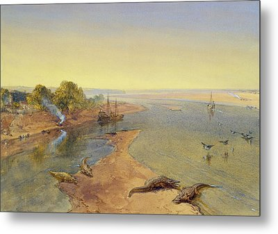 The Ganges Metal Print by William Crimea Simpson