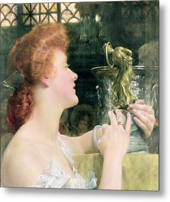 The Golden Hour Metal Print by Sir Lawrence Alma-Tadema