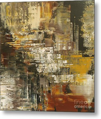 Metal Print featuring the painting The Gravelpit Code by Tatiana Iliina