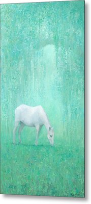 The Green Glade Metal Print by Steve Mitchell