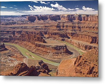 The Green-hued Colorado River Running Metal Print by Mike Theiss