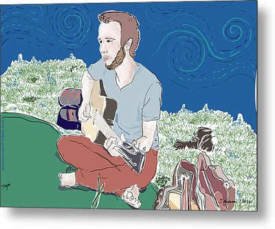 The Guitar Player Metal Print by Susie Morrison