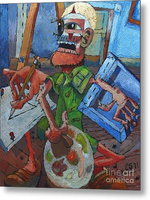 The Harlequin Artist Metal Print by Charlie Spear