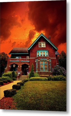 The Haunted Brumder Mansion Metal Print by Phil Koch