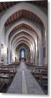 The Historic Duomo In Gubbio. 12th Metal Print by Rob Tilley