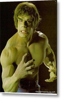 The Hulk  Metal Print by Jake Hartz