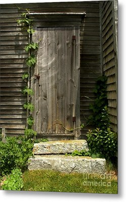 The Ivied Door Metal Print by Theresa Willingham