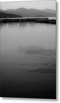 The Lake At Dusk Metal Print by David Patterson