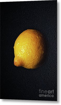 The Lazy Lemon Metal Print by Andee Design