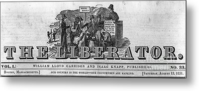 The Liberator Masthead Metal Print by Photo Researchers
