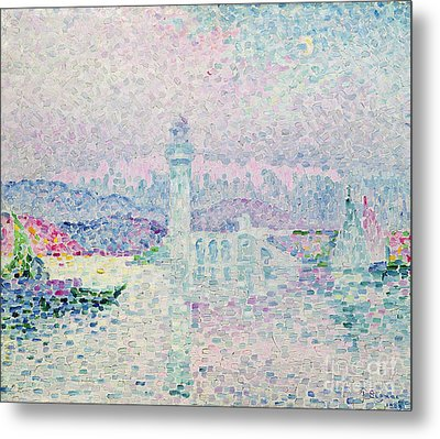The Lighthouse At Antibes Metal Print by Paul Signac